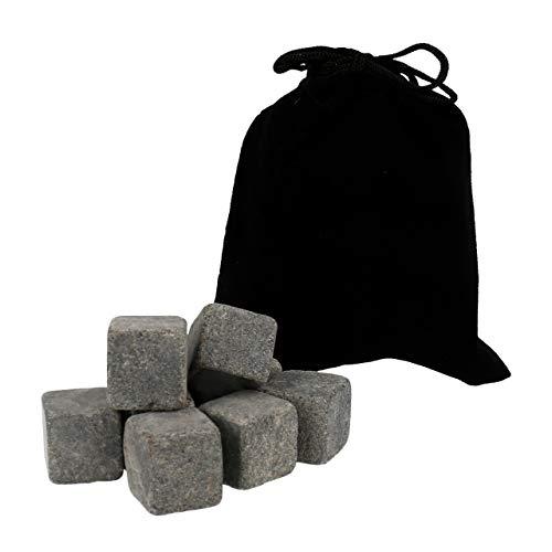Lantelme 9 StückWhisky Steine Set natürliche Speckstein wiederverwendbar Eiswürfel Whiskystein Stones Kühlsteine 6662