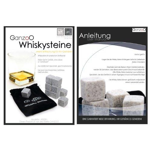 18er SET Whisky-Steine aus natürlichem Speckstein (rund) für Getränke
