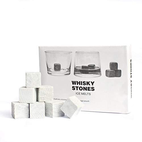 9er SET Whisky Steine aus Speckstein - Original Whiskey Stones Kühlsteine - 4